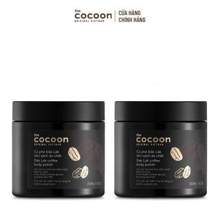 [Mã FMCG199 - 10% đơn 199K] Combo 2 hủ Cà phê Dak Lak làm sạch da chết Cocoon 200ml hủ