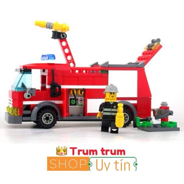 Ghép hình Lego hãng kazi xe cứu hoả