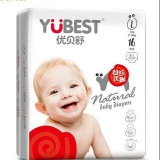 bỉm- tã quần Yubest Natural L96. XL84. XXL72 - bỉm- tã quần
