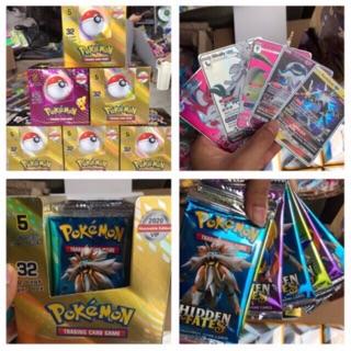 Hộp 32 bộ thẻ bài pokemon vip có tráng nhũ