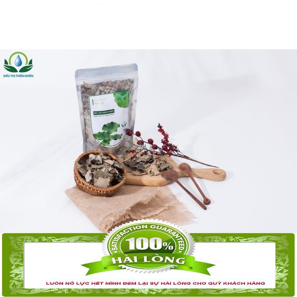 Trà lá sen sấy khô Mộc Sắc gói 100g [GIÁ GỐC] -  Trà lá sen sấy khô Mộc Sắc gói 100g