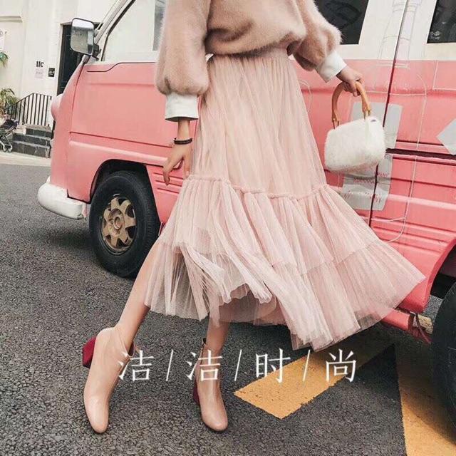 Chân váy bánh bèo