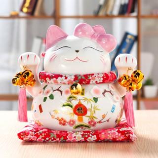 Ống heo tiết kiệm hình mèo may mắn đáng yêu