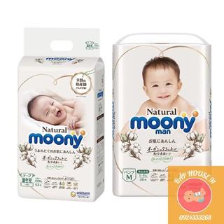 🍧 Bỉm Moony Natural 🍧 Moony Cộng Miếng Nội Địa Chính Hãng 🍧 Bỉm Moony Dán/Quần Đủ Size NB63/S58/M46/L36/XL32