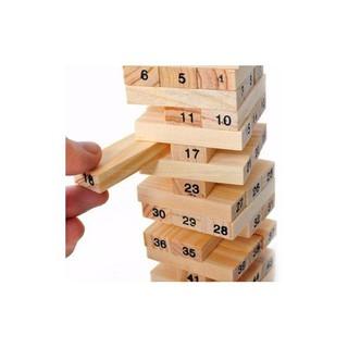 Bộ đồ chơi rút gỗ 54 thanh kiểu Nhật cho trẻ sáng tạo