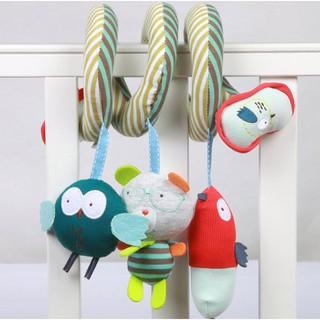 Bộ đồ chơi 4 thú treo nôi, xe đẩy Mamamiya&Papas