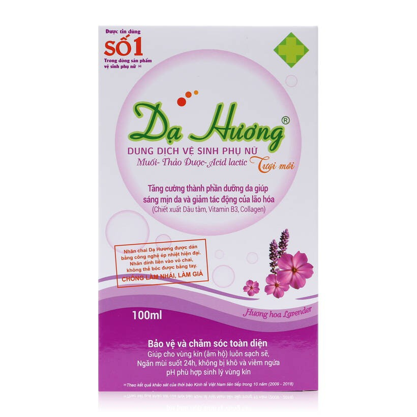Dung dịch vệ sinh - Dạ Hương Lavender 100ml - Dạng dung dịch tiện dụng - An toàn, không khô rát