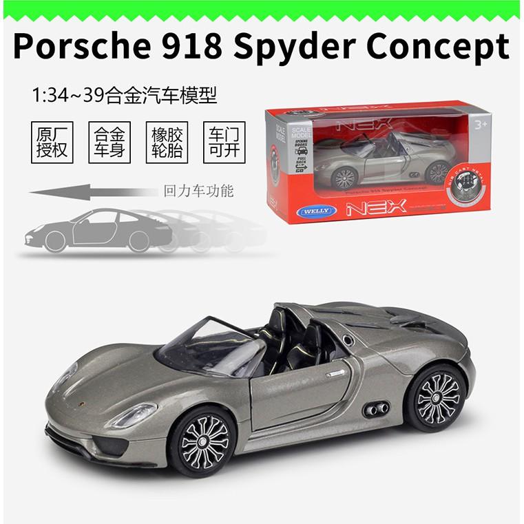 Mô Hình Xe Hơi Porsche 918 Spyder Concept Tỉ Lệ 1: 36