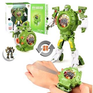 Đồng Hồ Biến Hình Robot Siêu Nhân Phiên Bản Tiếng Anh