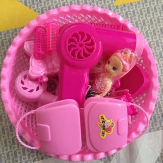 Rổ đồ chơi trang điểm búp bê