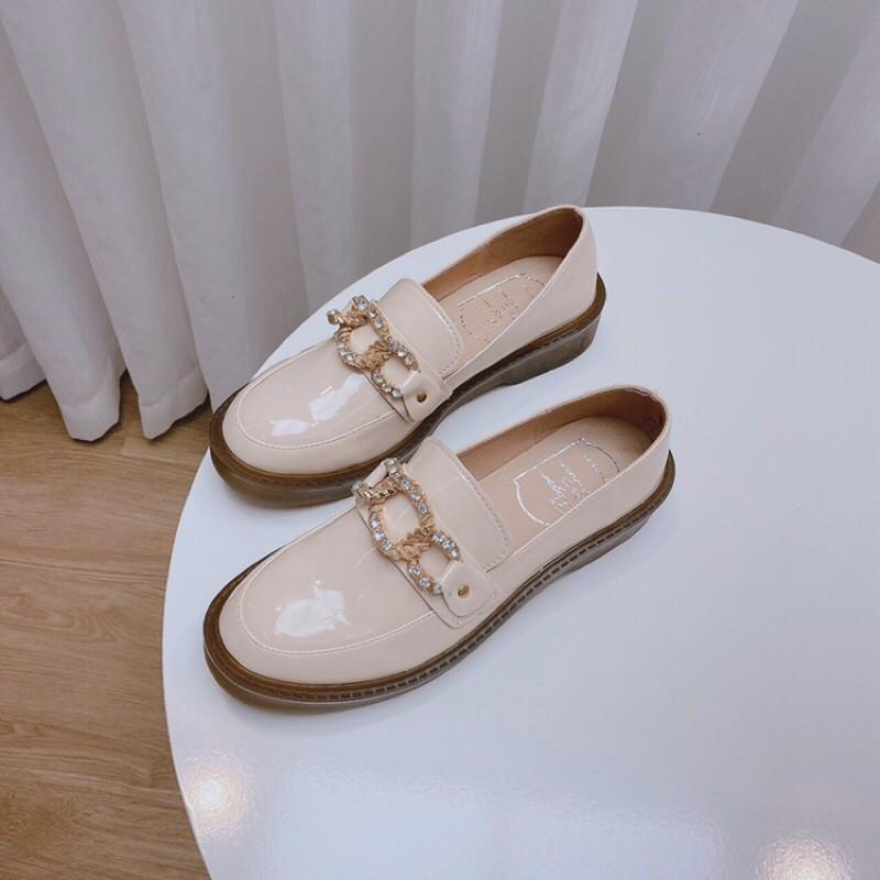 [Bán sỉ giá tốt] Giày nữ Docter da bóng xích đá 2 màu hàng loại 1 đế cao 3p