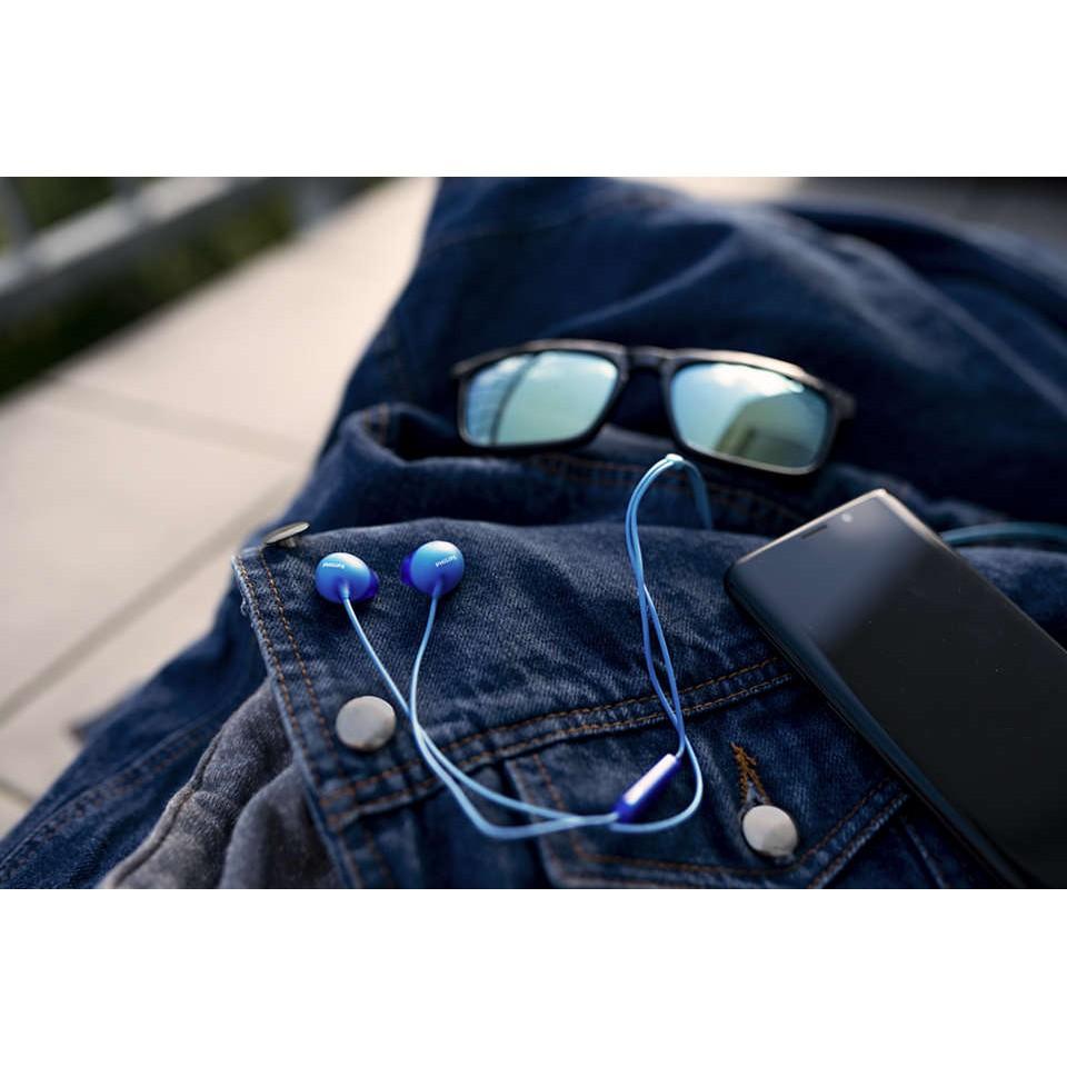 [Mã 267ELSALE hoàn 7% xu đơn 300K] Earphone Philips SHE2405BL/00-Blue, with Mic