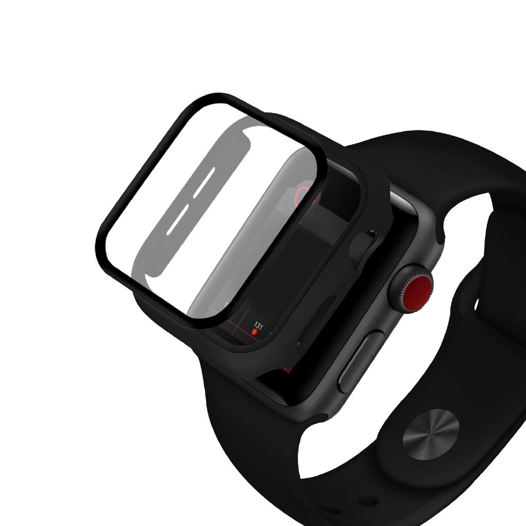 Ốp kính cường lực PC cứng siêu mỏng bảo vệ cho mặt đồng hồ Apple 38mm 42mm 40mm 44mm