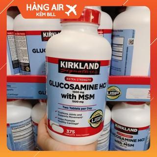Viên uống Glucosamin HCL 1500mg With MSM 1500mg glucosamine Kirkland 375 Viên- Mẫu Mới