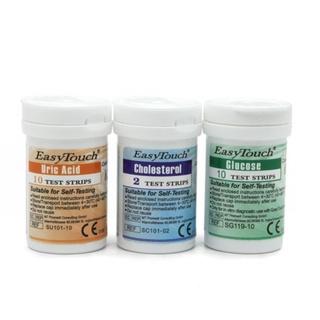 (Chính Hãng) Bộ que thử -đường huyết - mỡ máu-gút (gout) dùng cho máy đo đường huyết 3 chỉ số Easy Touch ET322 Rossmax thumbnail