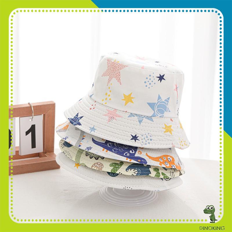 Mũ cho bé gái bé trai DINOKING Nón bucket rộng vành mùa hè 2021 cho trẻ em 1 - 5 tuổi MU01