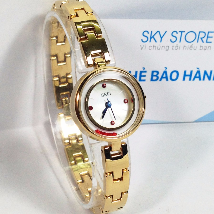 Đồng hồ nữ dây thép không gỉ cao cấp GEDI G8866