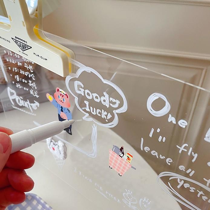 Bảng acrylic trong suốt ghi chú tin nhắn để bàn tiện dụng