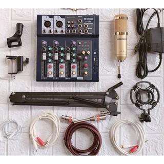Bộ Micro BM900-Mixer Yamaha F4 Bluetooth Hát karaoke Thu âm Bảo hành 1 năm