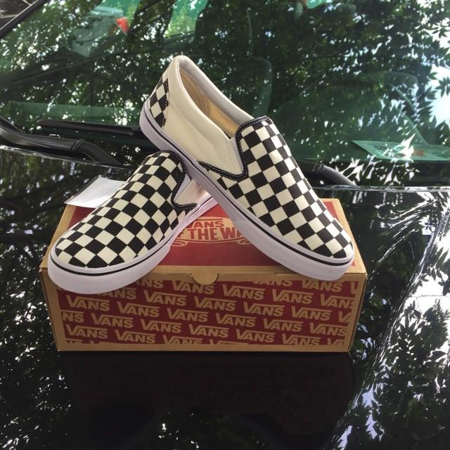 Combo 3 đôi giày Slip On Checkerboard 38 + 39 (hộp) + Gu Hổ 41 (hộp)