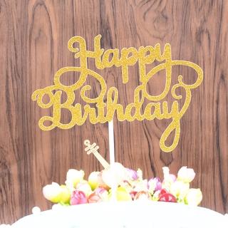 Topper Cắm Trang Trí Bánh Kem Chữ Happy Birthday