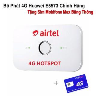 Bộ Phát Chuẩn 4G Huawei E5573 Chính Hãng(Tặng Sim Mobifone Vào Mạng Max Băng Thông)