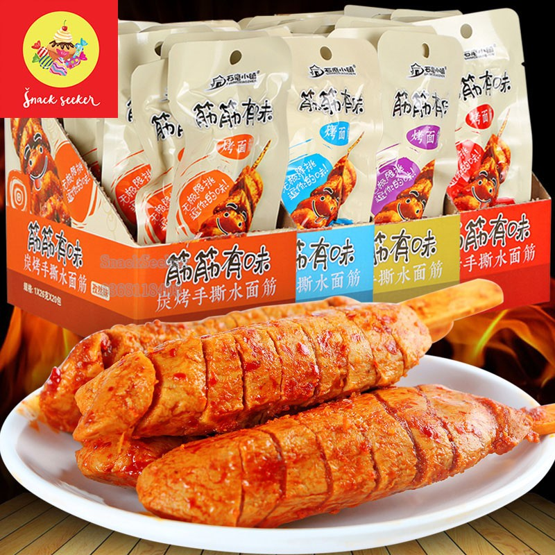 Thịt nướng que BBQ -Thịt chay nướng cay-SNACKSEEKER-Đồ ăn vặt Trung Quốc-Thịt nướng que xúc xích