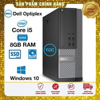Máy tính để bàn Dell Optiplex Core i5 4460, Ram 8GB, SSD 120Gb, HDD 500GB. Quà Tặng, Bảo hành 2 năm