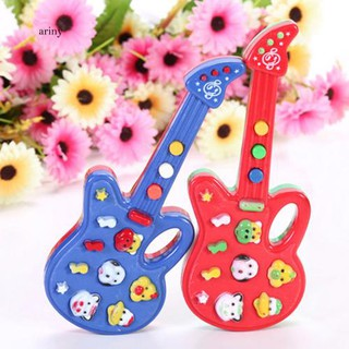 ♞Electronic Guitar Toy Nursery Rhyme Music Children Baby Kids Educational Gift