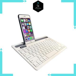 Bàn phím bluetooth Semitech KB700 có khe để điện thoại, máy tính bảng - bàn phím cho điện thoại, máy tính bảng thumbnail