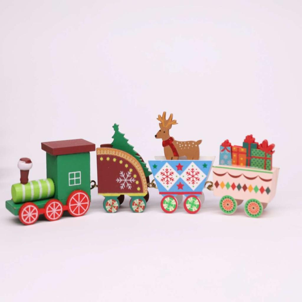 MỚI VỀ] Xe lửa gỗ/Cây thông trang trí Quà tặng Noel Giáng Sinh DIY, đồ chơi  cho bé giảm tiếp 65,000đ