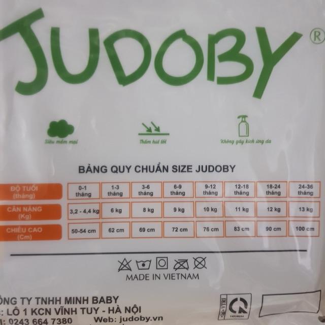 Bộ sơ sinh cúc lệch Judoby chất Modal mềm mịn cho bé trai/bé gái