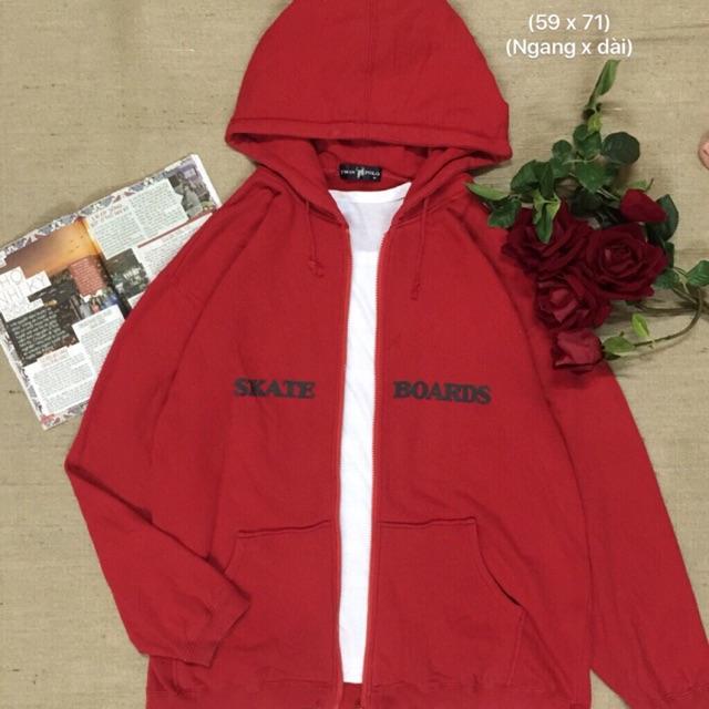Áo hoodie zipper đỏ