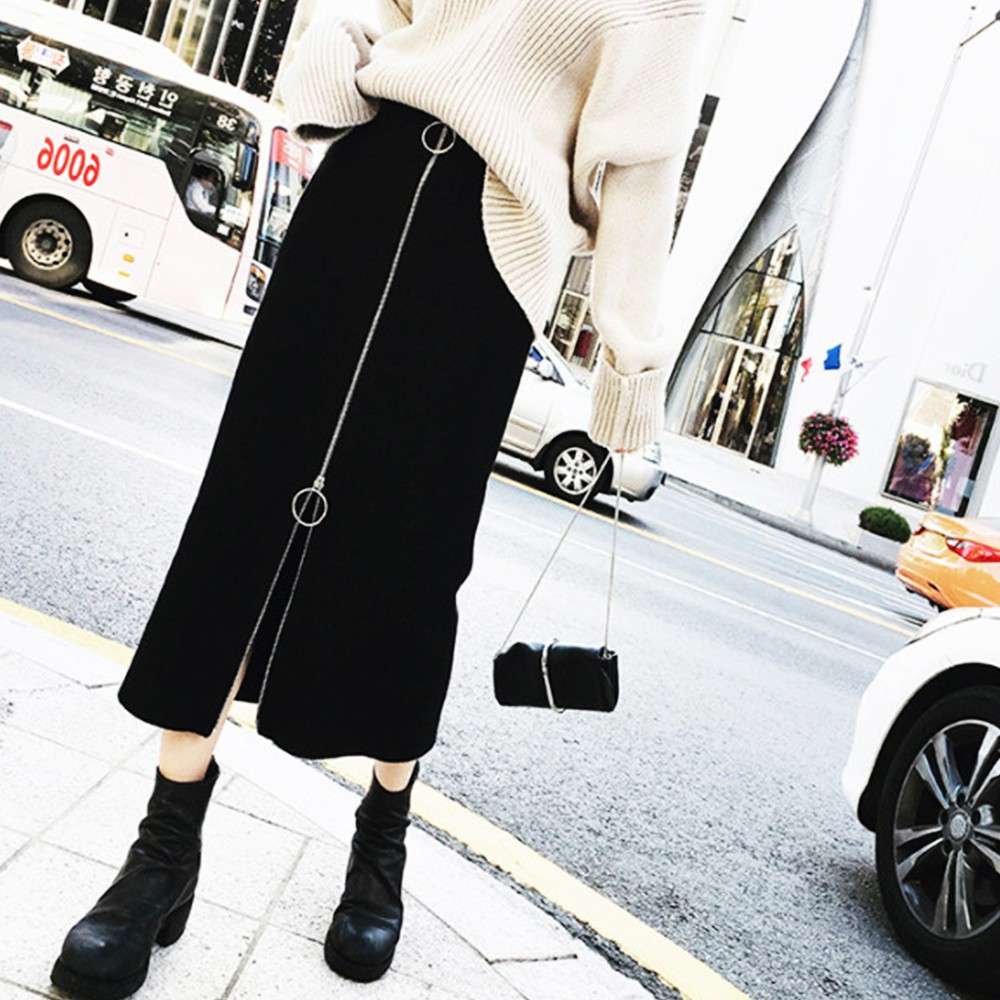 Váy cotton nữ lưng cao