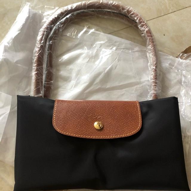 Túi Longchamp size L quai dài màu đen