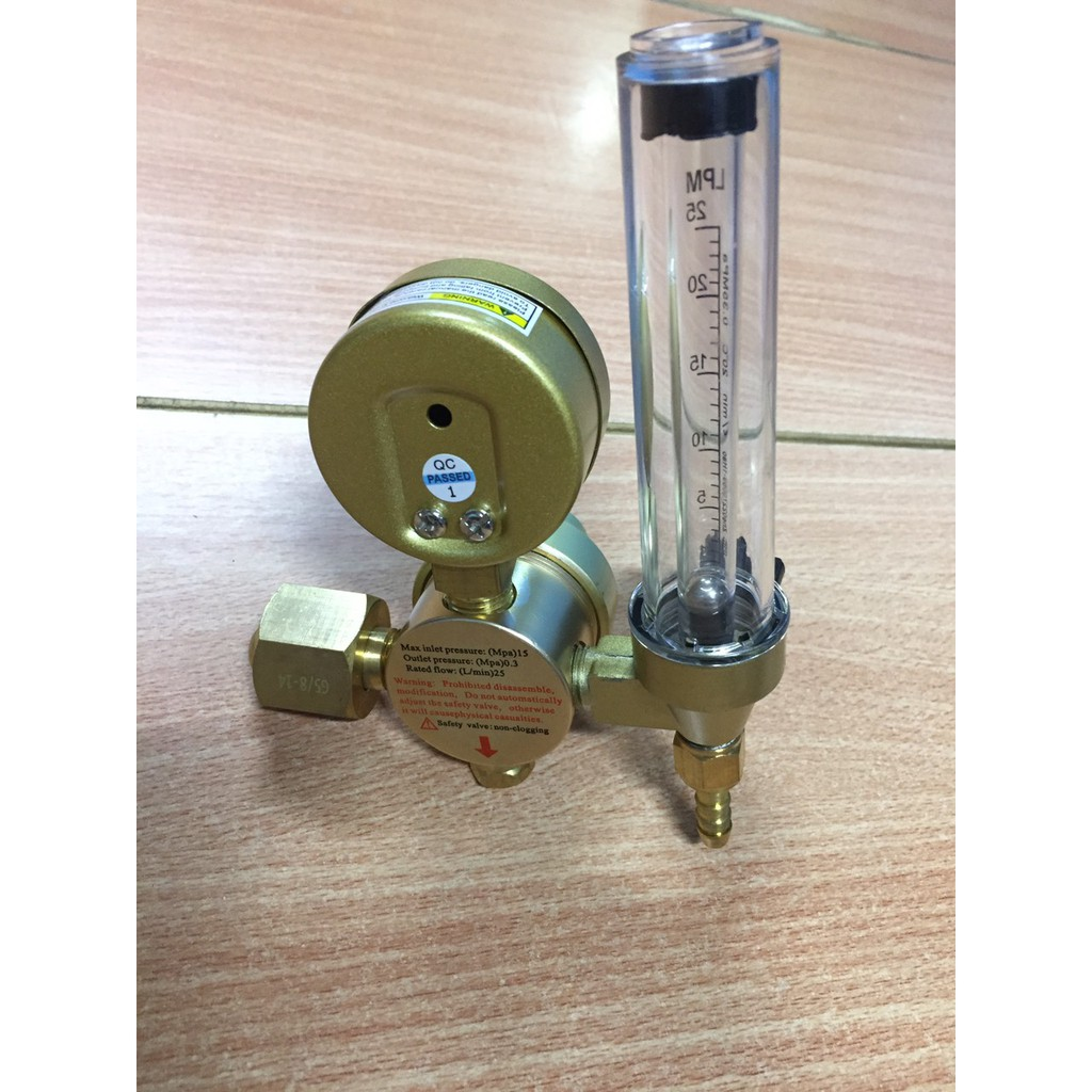 Đồng hồ điều áp Argon , CO2, Nito