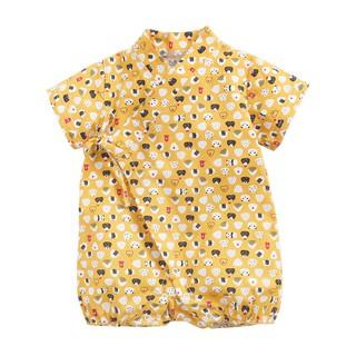 Bộ Áo Liền Quần Sanlutoz Màu Vàng In Họa Tiết Hoạt Hình Phong Cách Thời Trang Mùa Hè Cho Bé Trai