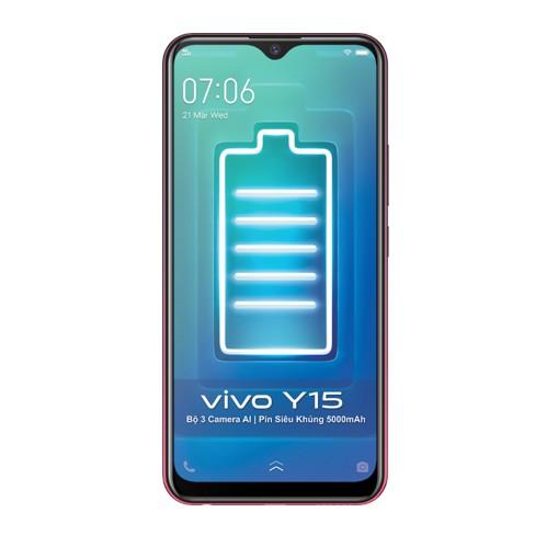 [Nhập mã VIVO300 giảm ngay 300k] Điện thoại Vivo Y15 4Gb + 64Gb - Hàng Chính Hãng