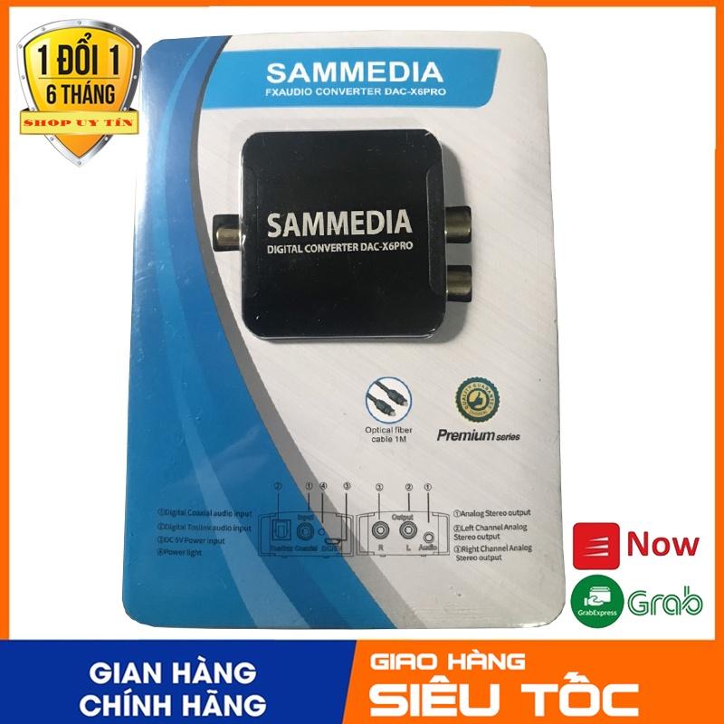 Thiết bị chuyển đổi âm thanh tivi 4K (Quang học) ra Amply có cổng audio 3.5 SAMMEDIA dùng nguồn USB âm thanh cực to