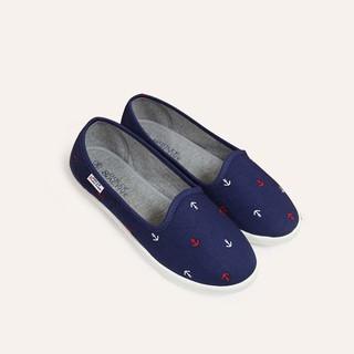 Giày slipon nữ D&A EPL1846 siêu nhẹ hình mỏ neo