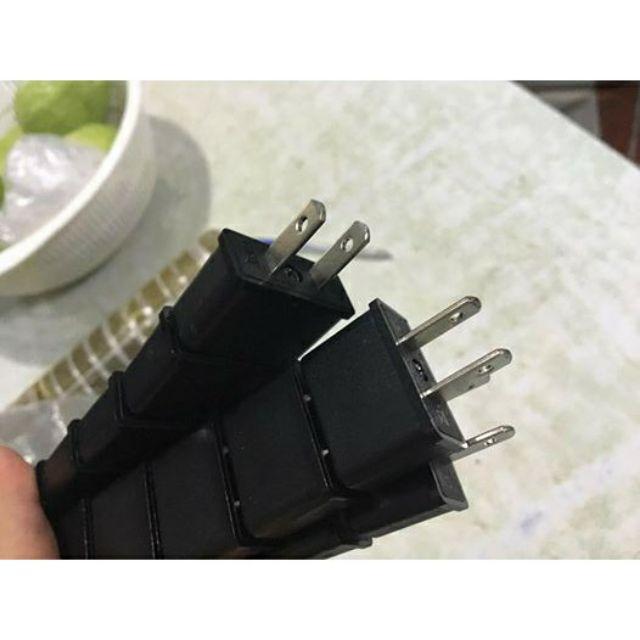 Phích cắm điện chuyển đổi từ 2 chân tròn sang 2 chân dẹt. BÁO GIÁ 1 PHÍCH CẮM