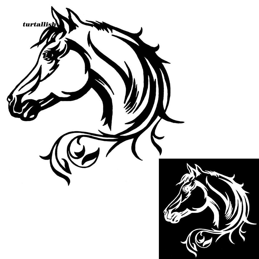 TUR♥Reflective Truck Window Body Decor Fashion Cartoon Horse Car Stickers Decal