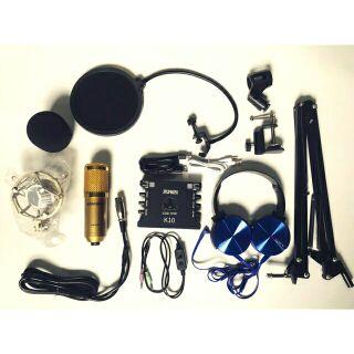 Combo livestream soundcard XOX K10 và míc BM 900