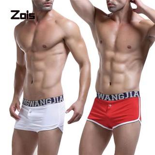 Zois Men Breathable Low Rise Letter Print Boxer Briefs