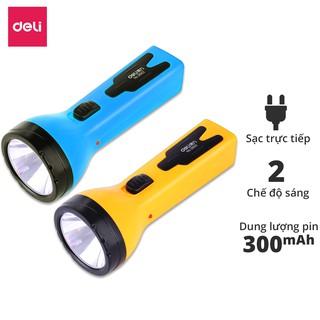Đèn pin sạc đa năng Deli - màu xanh/ vàng- 1 chiếc - 3662