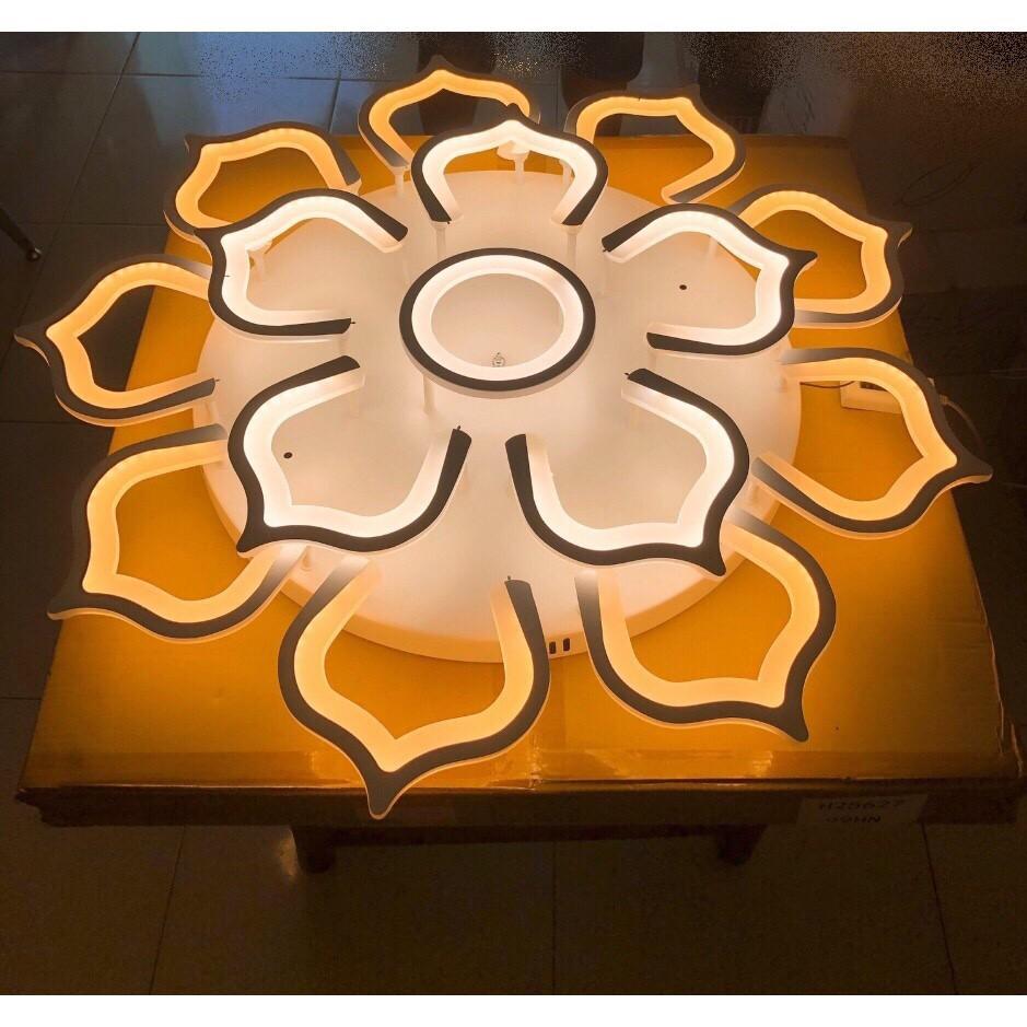 Đèn trần MONSKY LED trang trí tiết kiệm năng lượng hình bông hoa đẹp mắt 3 chế độ sáng - có điều khiển từ xa tiện dụng