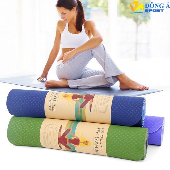 Thảm tập yoga cao cấp TPE 2 lớp dày 8mm