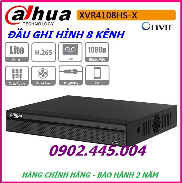 Đầu ghi hình 8 kênh 5 trong 1 Dahua XVR4108HS-X1, Hỗ trợ camera HDCVI/TVI/AHD/Analog/IP