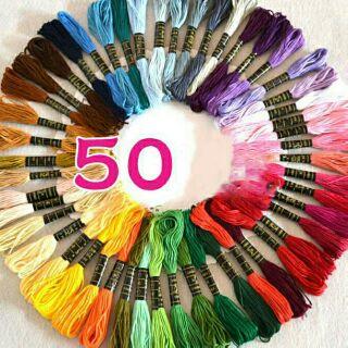 Bộ 50/100 chỉ thêu 50 màu – 100 màu