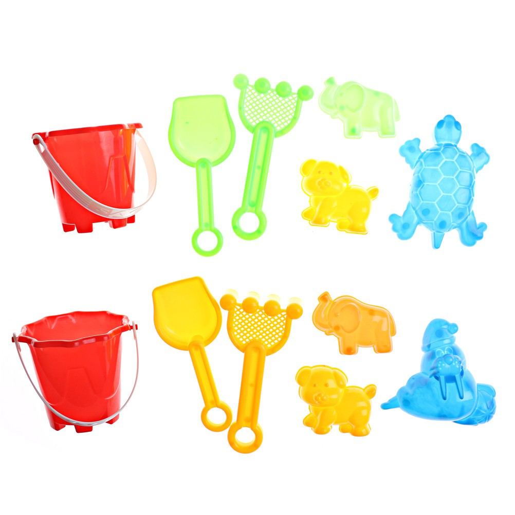 1Set Beach Sand Tools Toys Bucket Set For Toddler Kids Children Outdoor Toys